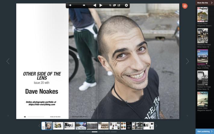 Dave Noakes Photographer Stoked on Fixed Bikes Magazine
